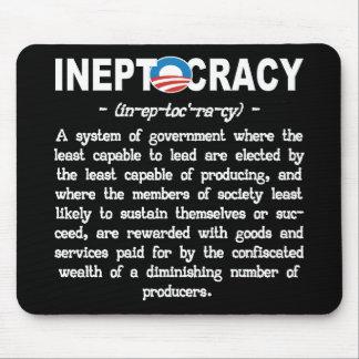 La administración de Obama Ineptocracy Mousepad Alfombrillas De Ratón