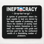 La administración de Obama Ineptocracy Mousepad Tapetes De Ratón
