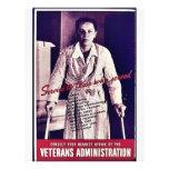 La administración de veteranos tarjetas informativas