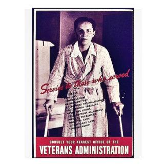 """La administración de veteranos folleto 8.5"""" x 11"""""""