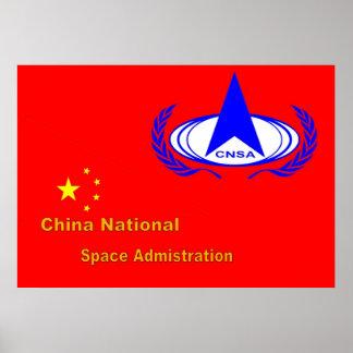 La administración nacional del espacio de China Posters