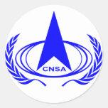 La administración nacional del espacio de China - Pegatina Redonda