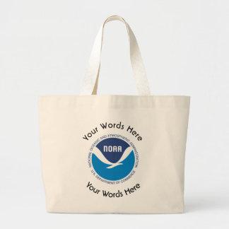 La administración oceánica y atmosférica nacional bolsa tela grande