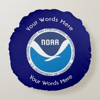 La administración oceánica y atmosférica nacional cojín redondo