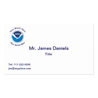 La administración oceánica y atmosférica nacional tarjetas de visita