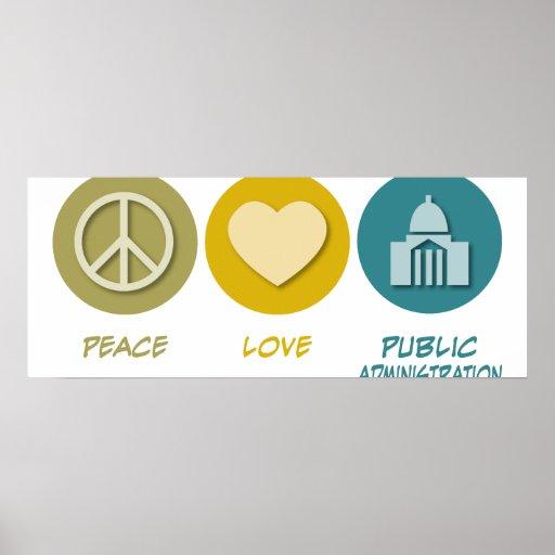 La administración pública del amor de la paz posters