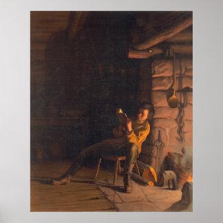 La adolescencia de Lincoln a la tarde en la choza Póster