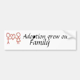 La adopción creció nuestro parachoque de la famili etiqueta de parachoque
