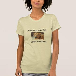 La adopción de un perro ahorra la camiseta de dos