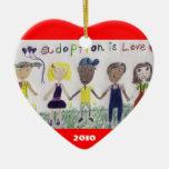 La adopción es ornamento del amor ornaments para arbol de navidad