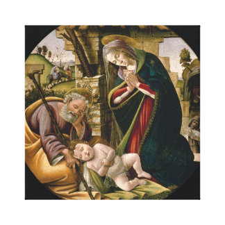 La adoración de Botticelli del niño de Cristo Impresion De Lienzo