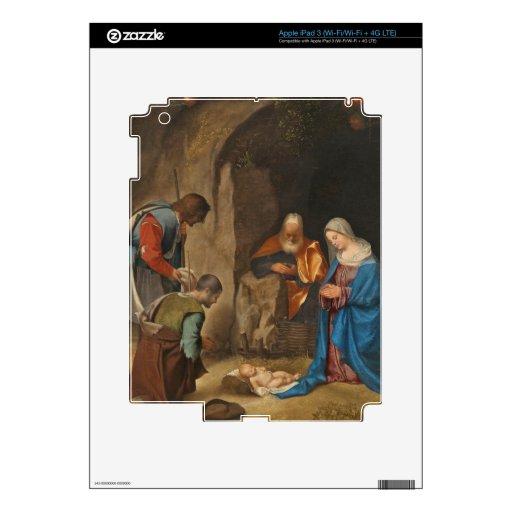 La adoración de los pastores, 1505-10 pegatina skin para iPad 3