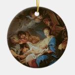 La adoración de los pastores (aceite en lona) 2 ornamento para reyes magos