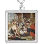 La adoración de los pastores, c.1638 collar plateado