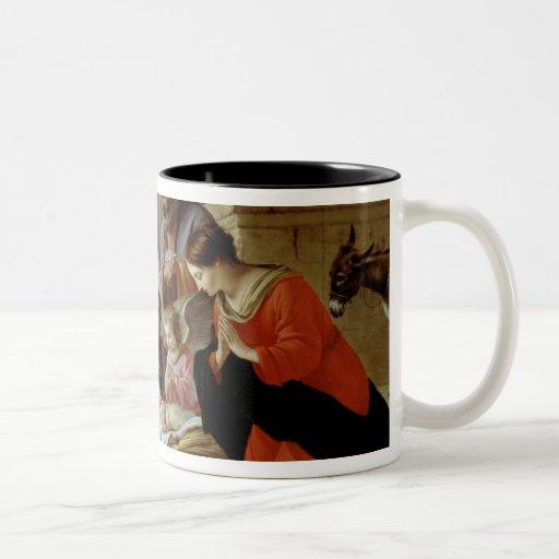 La adoración de los pastores, c.1638 taza de café de dos colores