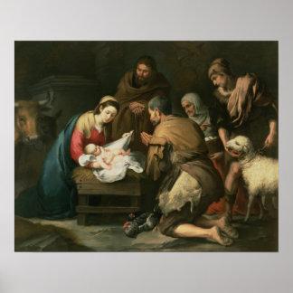 La adoración de los pastores, c.1650 póster