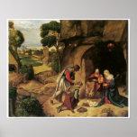 La adoración de los pastores, Giorgione Póster