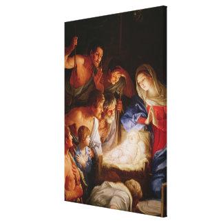 La adoración de los pastores impresión en tela