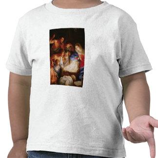 La adoración de los pastores camisetas