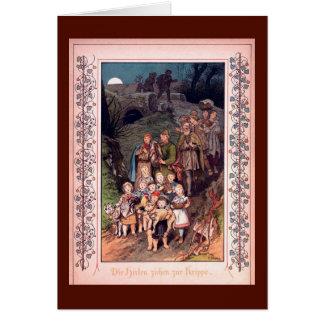 La adoración de los pastores tarjeta de felicitación