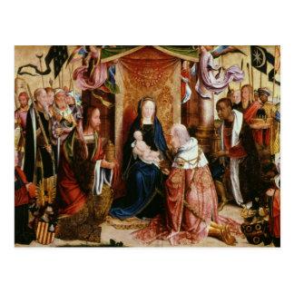 La adoración de los reyes postales