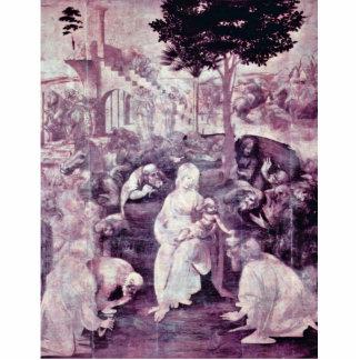 La adoración de los tres reyes By Leonardo DA VI Fotoescultura Vertical