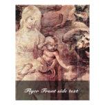 La adoración de los tres reyes Detail By Leonard Tarjeta Publicitaria