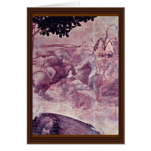 La adoración de los tres reyes Detail By Leonard Tarjetas