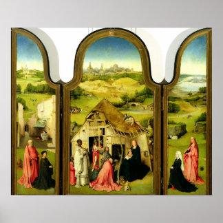 La adoración de unos de los reyes magos, 1510 póster