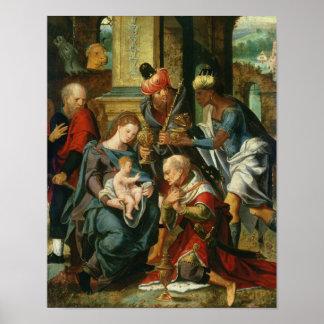 La adoración de unos de los reyes magos 1530 poster