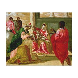 La adoración de unos de los reyes magos, 1567-70 lona envuelta para galerias