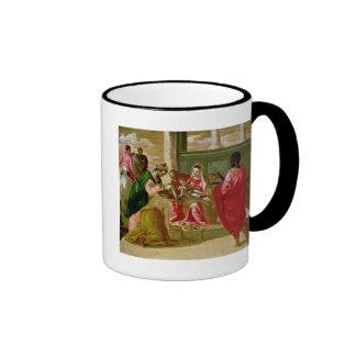 La adoración de unos de los reyes magos, 1567-70 taza de dos colores