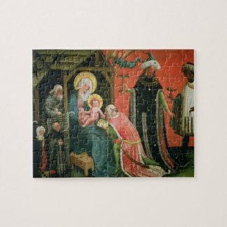 La adoración de unos de los reyes magos (aceite en puzzles con fotos