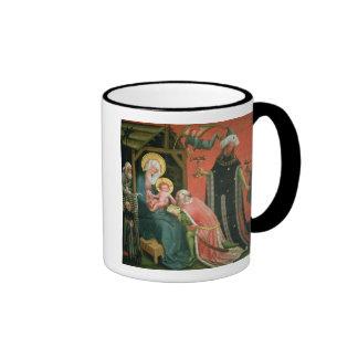 La adoración de unos de los reyes magos (aceite en taza de dos colores