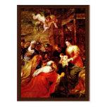 La adoración de unos de los reyes magos, adoración tarjetas postales