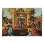 La adoración de unos de los reyes magos, c.1478-82 tarjeta de felicitación