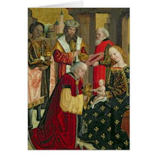 La adoración de unos de los reyes magos, del altar tarjeta de felicitación