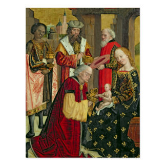 La adoración de unos de los reyes magos, del altar tarjeta postal