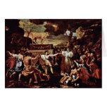 La adoración del becerro de oro de Poussin Nicola Felicitaciones
