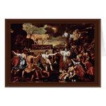 La adoración del becerro de oro de Poussin Nicola Felicitación