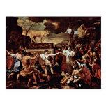 La adoración del becerro de oro de Poussin Nicola Postales