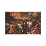 La adoración del becerro de oro lienzo envuelto para galerías