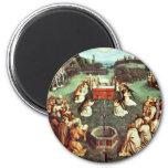 La adoración del cordero místico de Eyck Huberto Imán De Frigorifico