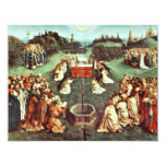 La adoración del cordero místico de Eyck Huberto Invitación