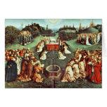 La adoración del cordero místico de Eyck Huberto Tarjetas