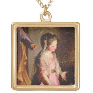 La adoración del niño, 1597 colgante cuadrado