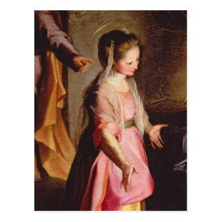 La adoración del niño, 1597 postal