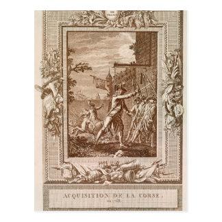 La adquisición de Córcega en 1768 Postal