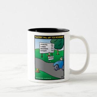 """La """"adulación le conseguirá en ninguna parte """" tazas de café"""