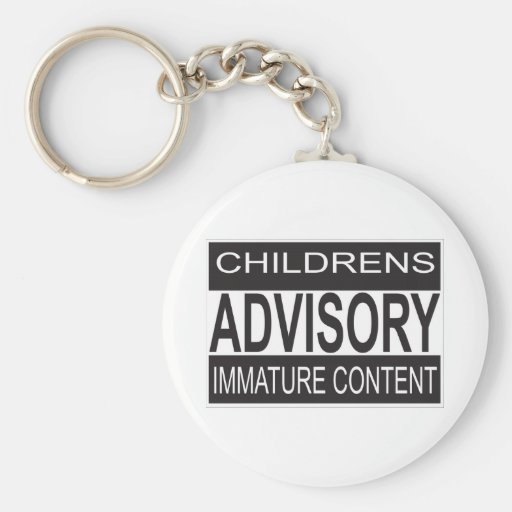 La advertencia consultiva de los niños llaveros